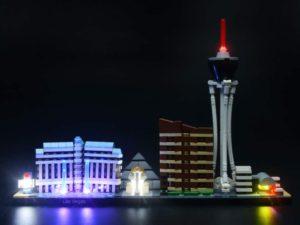 Lego Architecture Las Vegas luci notturne