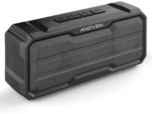 Altoparlante Bluetooth Portatile, Andven Cassa Bluetooth 360° Senza Fili, TWS Microfono Incorporato, Impermeabile - Nero