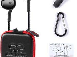 GUUVOR Auricolari Cuffie Magnetici Sport Auricolari in Ear con Microfono Resistente al Sudore Isolamento del Rumore Alta Definizione Bassi Potenti nero