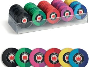 Juego Poker Chips Fiches 100 in ceramica 1