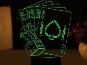 Lampada 3D Poker