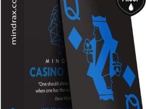 Mindrax Carte da Gioco Premium da Poker Impermeabili 100% - Blu