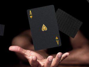 SolarMatrix Carte da Poker Impermeabile - Nero