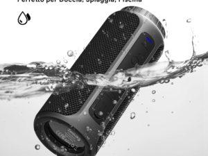 Zamkol Cassa Bluetooth 5.0, Portatile con Bassi Potenti, Waterproof