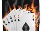 Bagaglio da viaggio con carte da poker Burn in Fire