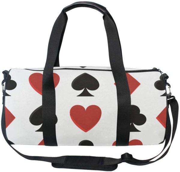 """Borsa da Viaggio Pieghevole """"poker, carte, picche e cuori"""" 45x23x23cm - Lupinz"""