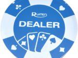 Dealer Button Blu Trasparente