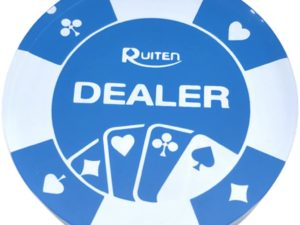 Dealer Button Blu Trasparente