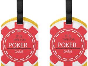 Etichette per bagagli con fiches da poker Borsa da viaggio Etichette per valigia bagaglio 2 pezzi