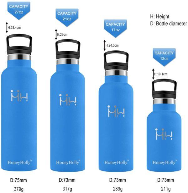HoneyHolly Bottiglia in Acciaio Inox