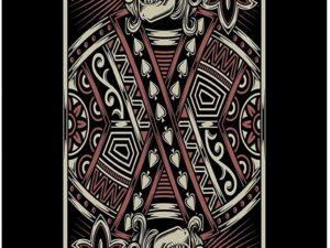 LimeWorks Telo Bagno, 70x140 cm, Carta da Poker Scheletro