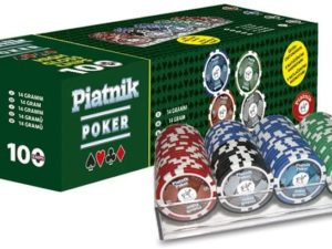 Piatnik 790591 - Set PRO Poker con 100 fiches Lucide, 14 g