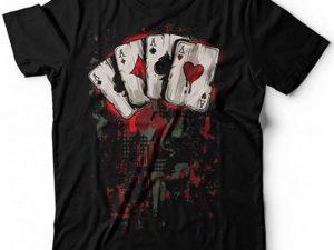 T shirt poker assi